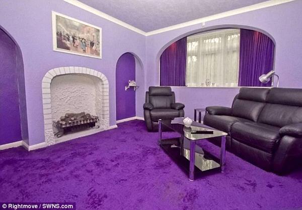 Parece el exterior de una casa normal a la venta no vas a creer como es por dentro notagram - Interior house decoration with purple ...